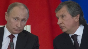 Putin and his close associate Igor Sechin--head of Rosneft